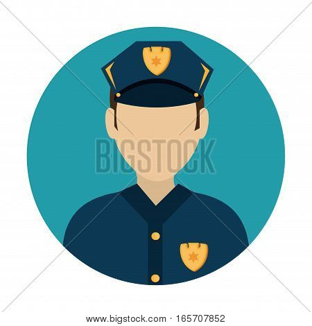 police avatar character icon vector illustration design