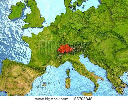 Switzerland In Red