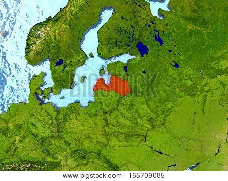 Latvia In Red