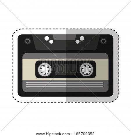 cassette music old fashion vector illustration design