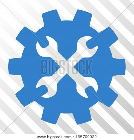 Cobalt Tools toolbar icon. Vector pictogram style is a flat symbol on diagonally hatched transparent background.