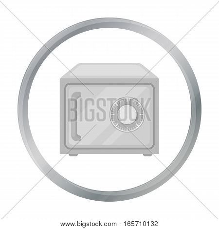 Safe icon in cartoon style isolated on white background. Hotel symbol vector illustration.
