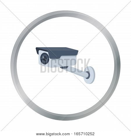 Hidden camera icon in cartoon style isolated on white background. Hotel symbol vector illustration.