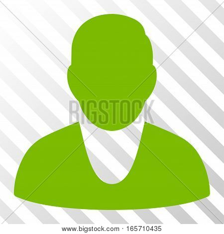Eco Green Client interface toolbar pictogram. Vector pictogram style is a flat symbol on diagonally hatched transparent background.