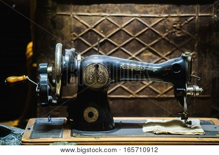 old sewing machine the Chaika. vintage sewing machine