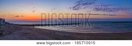 Panorama Of The Sunset Beach