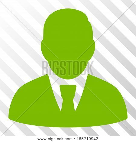 Eco Green Manager toolbar pictogram. Vector pictogram style is a flat symbol on diagonally hatched transparent background.