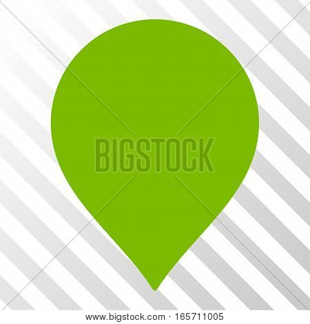 Eco Green Map Marker toolbar icon. Vector pictogram style is a flat symbol on diagonal hatch transparent background.