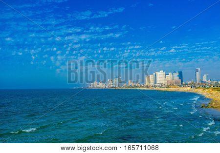 The Blue Sy Over Tel Aviv