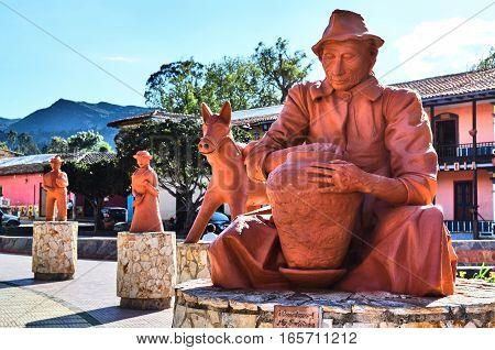 Ceramic Sculptures In Raquira