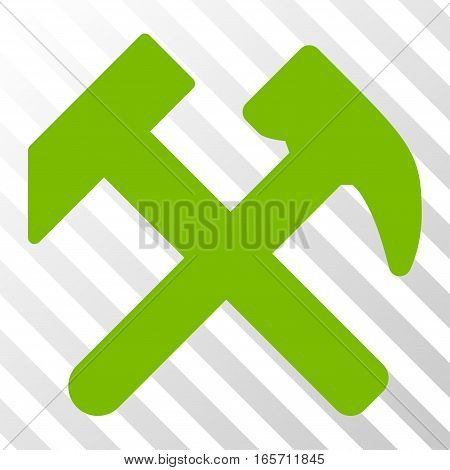 Eco Green Work interface icon. Vector pictograph style is a flat symbol on diagonal hatch transparent background.