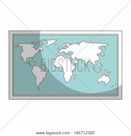 map paper guide icon vector illustration design