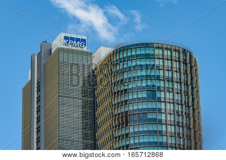 SYDNEY AUSTRALIA - OCTOBER 11 2016: Commercial property development at barrangaroo avenue close to Darling Harbour Wharf.