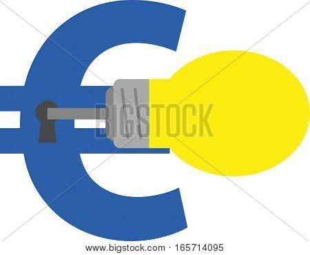 Light Bulb Key Unlocking Euro