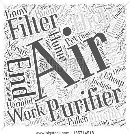 Cheap Air Filters versus High End Air Filters Word Cloud Concept
