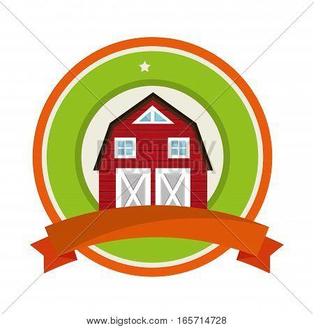 stable farm building icon vector illustration design