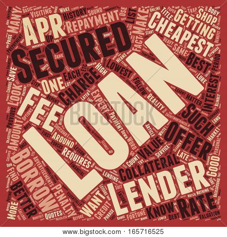 Cheapest Secured Loans Save A Fortune On Your Secured Loan text background wordcloud concept