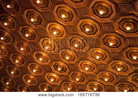 Antique Ceiling With Lights