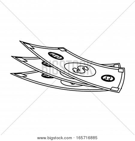 money bills icon over white background. vector illustration