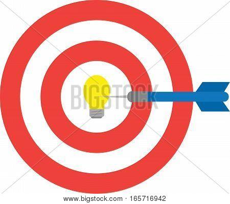 Bullseye With Light Bulb And Dart. Center