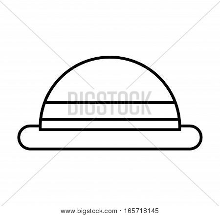 hat hipster style accesory vector illustration design