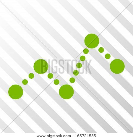 Eco Green Chart toolbar icon. Vector pictogram style is a flat symbol on diagonally hatched transparent background.