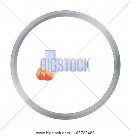 Hashish pipe icon in cartoon style isolated on white background. Drugs symbol vector illustration.