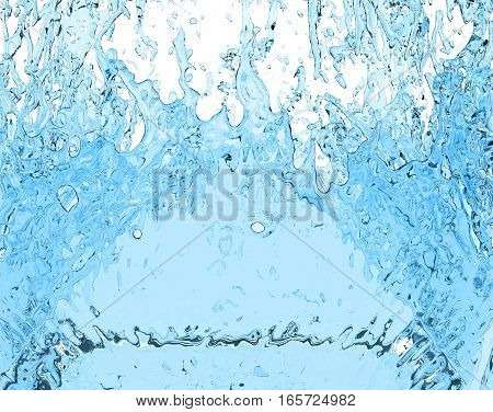 water splash fresh liquid drink on white background 3D illustration