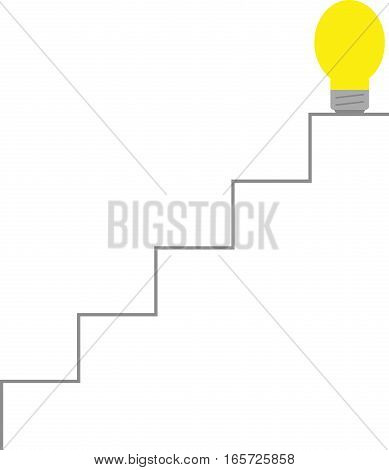 Light Bulb On Top Of Stairs
