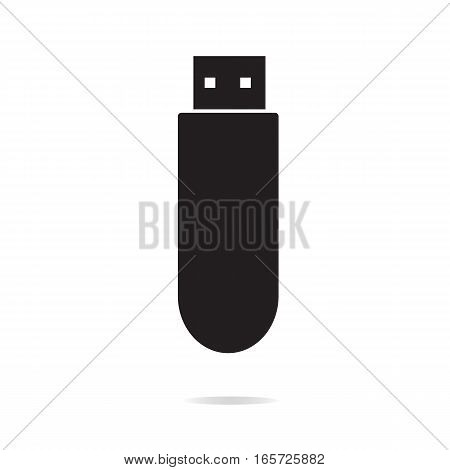 usb flash drive icon on white background. usb flash drive sign.