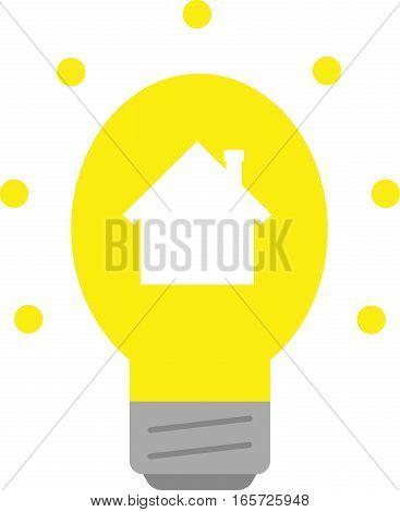 Light Bulb With House