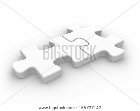 2 Connected Puzzle Pieces