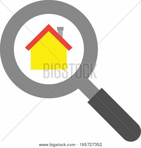 Magnifier With House