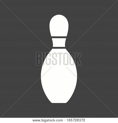 Bowling, casino, pin icon vector image. Can also be used for casino.