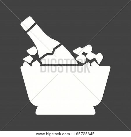 Champagne, bottle, wine icon vector image. Can also be used for casino. Suitable for use on web apps, mobile apps and print media.
