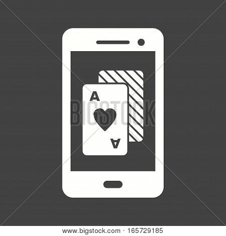 Gambling, mobile, casino icon vector image. Can also be used for casino. Suitable for use on web apps, mobile apps and print media.