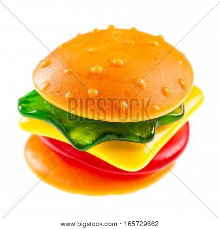 Jelly Burger On White