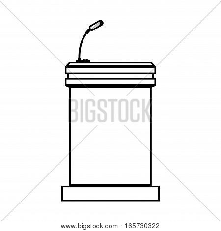 Podium of speech isolated icon vector illustration design