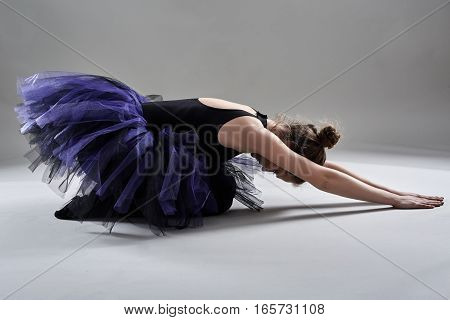 Ballerina On Gray Background