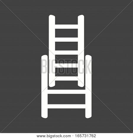 Ladder, fire, firefighter icon vector image. Can also be used for firefighting.