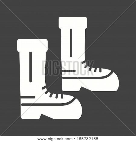 Firefighter, boots, equipment icon vector image. Can also be used for firefighting.
