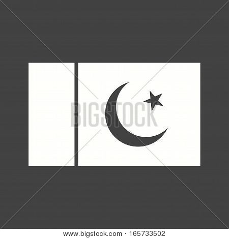 Pakistan, flag, national icon vector image. Can also be used for flags.