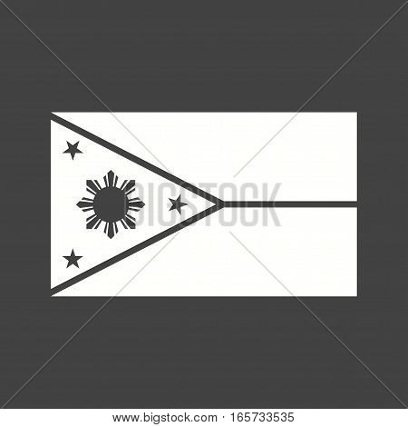 Philippines, flag, national icon vector image. Can also be used for flags.
