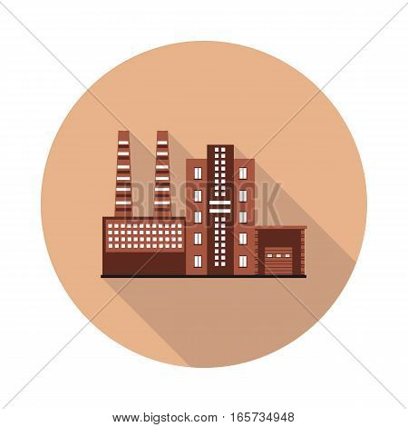 flat icon factory in vector format eps10