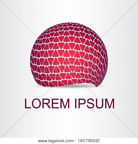 Logo stylized spherical surface with abstract shapes. This logo is suitable for global company world technologies and media and publicity agencies