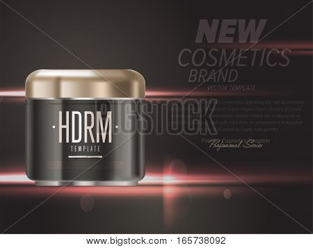 Realistic face cream beauty cosmetic product plastic container vector. Body cream, lotion or face cream tube. Cosmetic packaging template. Cosmetic beauty products. 3d cosmetic bottle. Face cream cosmetic bottle. Body care professional cosmetic series