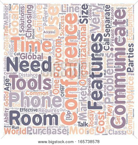 Conference Phones Connect Your Business text background wordcloud concept