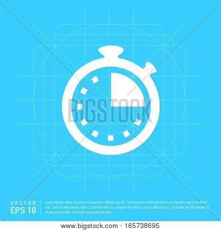 Stop Watch Icon abstract blue background template