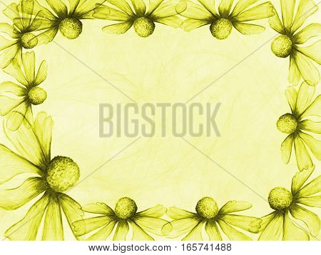 Floral Style Smoke Yellow Line Ornament Background, Flower Abstract