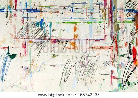 The dirty easel as a abstract background